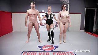 Naked Sex Fray Mistress Kara wrestles Jack Friday doing a 69 and beast fucked immutable