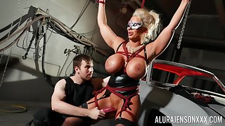 Busty cougar loves being eaten up in BDSM hardcore
