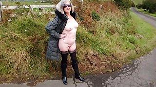 Debbie Naked Under Her Robe