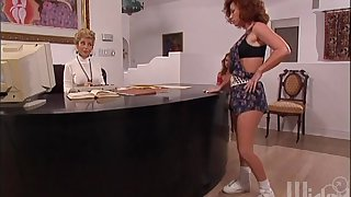 Jessica James enjoys getting the brush ass poked by the brush best friend