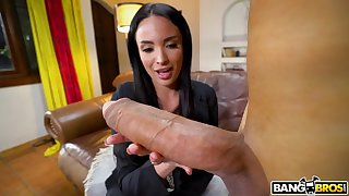 Dude with a monster cock fucks juicy pussy of star Anissa Kate