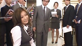 Wild fucking in the office with nice inexperienced gut Miruku Matsusaka