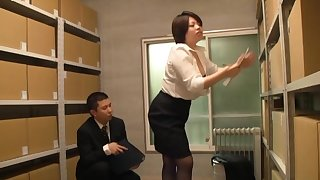 Taking Japanese chick gets her pussy licked and fucked in the office