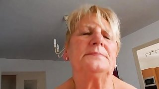 Grandma rides hubby added to tries not to moaning