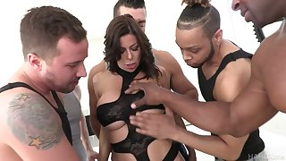 Perverted Alexis Fawx is be prepared everlasting double penetration and mouthfuck