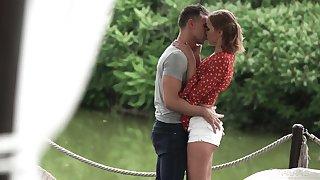 Beautiful outdoor sex with awesome Ukrainian girlfriend Oxana Chic