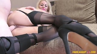 Amazing blonde woman deals hammer away strong dong in impressive POV scenes