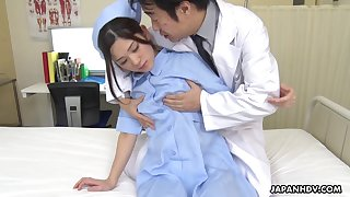Naughty and hot Japanese nurse Anna Kimijima is into riding weasel words primarily top