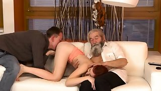 Imploring daddy and mature brunette Sheer experience