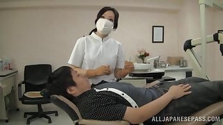 Japanese nurse loves pleasuring their way patients in the matter of their way mouth